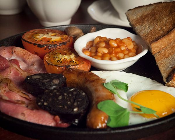 A Full Cooked breakfast at the Wynnstay Arms